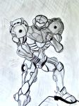 Black and white Samus by taytaym2