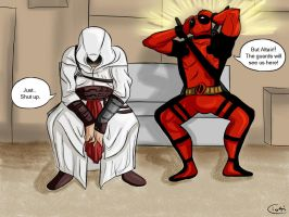 Alternative World: Altair and Deadpool by Ciotti