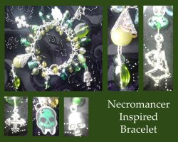Guildwars 2 Necromancer inspired bracelet by Idlewings