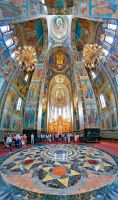 Inside the Church of the Savior on Spilled Blood by crh