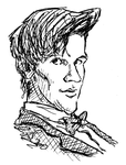 Matt Smith sketch (black and white scan) by bromley001