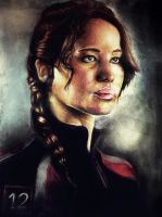 Katniss Everdeen ( Jennifer Lawrence) by Vioolett-V