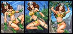 SAVAGE LAND ROGUE PERSONAL SKETCH CARDS by AHochrein2010