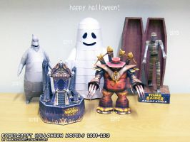 Ninjatoes Halloween papercraft specials 2009-2013 by ninjatoespapercraft