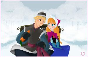 Anna and Kristoff by HarumiSurya