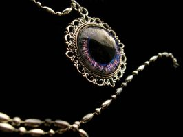 Super Shifting Blue Purple Eye Pendant by LadyPirotessa