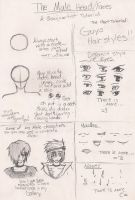 Male Head and Face Tutorial by shoujoartist