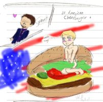 American Cheeseburger by sparklingblue