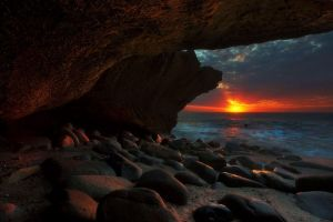 The Cave Sunrise by Dreampixphotography