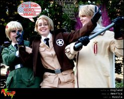 APH Cosplay: Allied forces by Feffelini