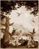 Fairy Anjuli's World Sepia by MariaWillhelm