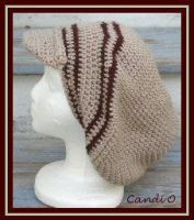 Light and Dark Brown Dread Cap by Plum-L0c0