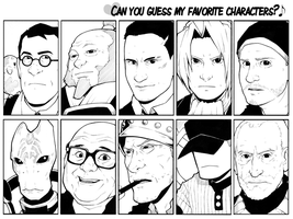 H0ly's Favourite Characters by H0lyhandgrenade