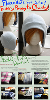 +FleeceHats:MadeToOrder+ For Charity! by Stephys-Adoptables