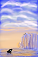 Waiting for Food_Finger Paint by Tsitra360