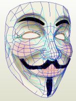 V for Vendetta mask by wingedLizz