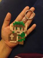 Link Inspired Perler Bead Keychain by Raychull7