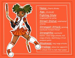 Pre-Teen Street Fighters: Chasity Blonka by BrownieTheif