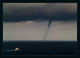 Waterspout near Dubrovnik by AdriaticWeather