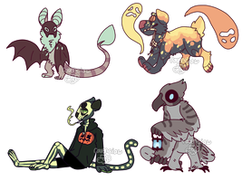 halloween adopts - closed by ravencIaw