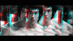 3D anaglyph animated Bruce Lee as Lee by gogu1234
