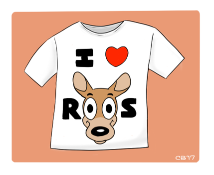I Love Roos T-Shirt by CheesyBear