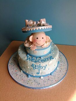 baby shower box cake. by Sugarartist13