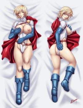 Power girl Dakimakura by Karosu-Maker