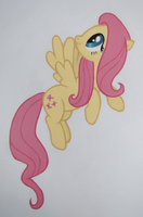 Fluttershy Wall Mural by Alouncara