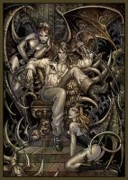 Richter and succubi by Candra