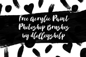 Free Acrylic Messy Paint Photoshop Brushes by toxiclolley88