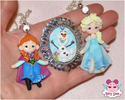 Frozen handmade jewels by dragonfly-world
