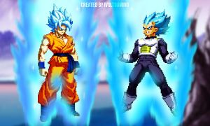 Super Saiyan God Goku VS Super Saiyan God Vegeta by iVoltGaming