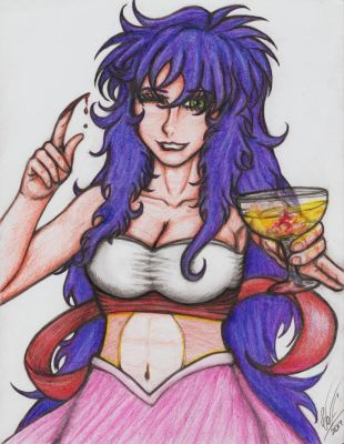Mila spares you a drink by WOLF777MX