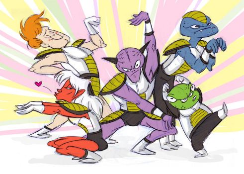 Ginyu Force by trufflefunk
