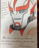 I'd like to have a dad like Ratchet by SolarsWind