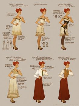 Dressing Rosalind Lutece by shoomlah