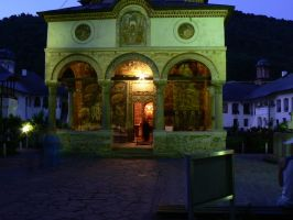 Cozia monastery by night by digitalgod
