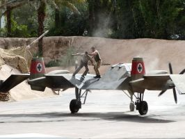 Get off my plane! Indiana Jones Stunt show by SD-of-Chaos-Society