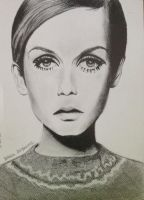 Twiggy's portrait by milenamar