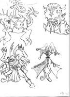 Heartless Sketches: Bosses by Lord-Duncan