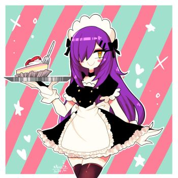 Maid and delicious cake by Nase14