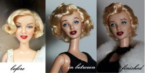 Marilyn Monroe OOAK by lulemee