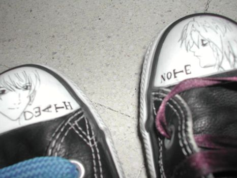 A Death Note on my foot by AddictedToNovember