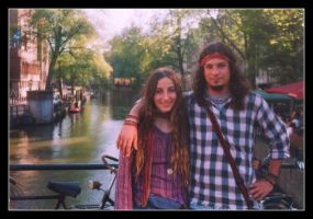 hippies in Amsterdam by euhemuhu
