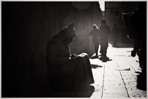 The Beggar, always present by SantiBilly