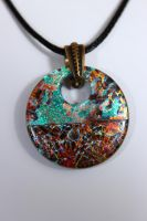 Mesh Donut Dichroic Pendant by Dimolicious