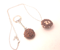 Handmade life-size ferrero rocher candy by MiniSweetx