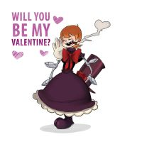 Peacock Will you be my valentine? by Ikinari