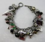 Walking Dead Daryl and Merle Dixon Charm Bracelet by Gothscifigirl